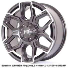model velg racing BATTALION 5260 HSR R20X85 H10X114,3-127 ET40 SMBMF