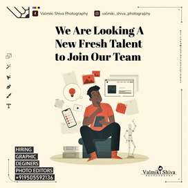 We are looking a new fresh talent editor to join our team.
