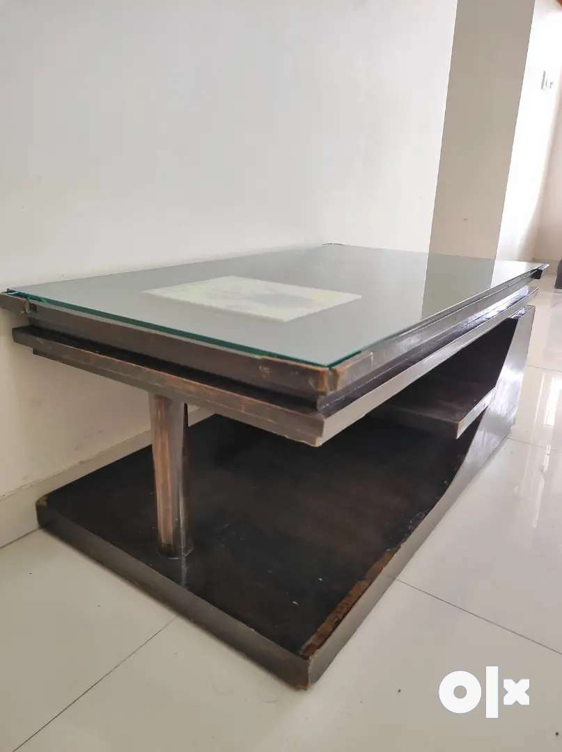 Glass top center table for sale Rs. 2699