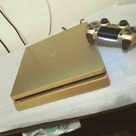 Sony PlayStation PS4 silm 1 tb golden edition with 2 controller