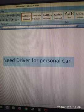 Need Driver