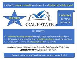 Exciting Telecaller roles for a leading real estate group