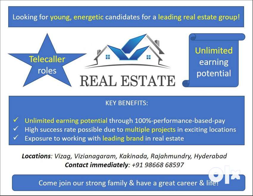 Exciting Telecaller roles for a leading real estate group 0