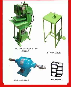 Hawai Chappal Making Machine Full Set Cost Rupees 70000 Rs only /