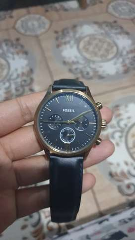FOSSIL,Fenmore Midsize Multifunction Black Leather Watch BQ2410
