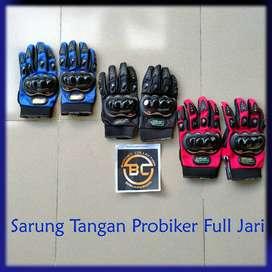 Sarung Tangan Motor Probiker Full & Half jari touchscreen sentuh HP