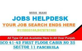 Urgently required staff at baddi / derabassi / una/ pontasahib Pharma