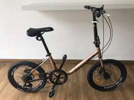 Sepeda Minion BNB Vicky, 7speed, Rose Gold