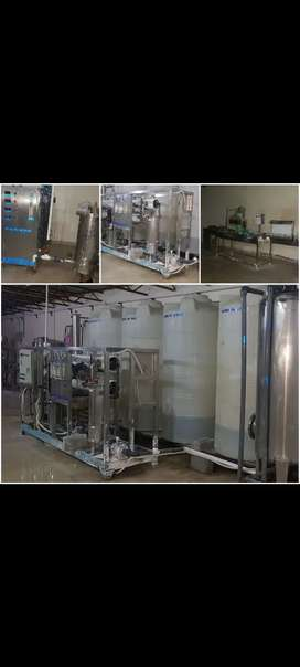 Mineral and RO Plant and Juice Packing and Filling Machines