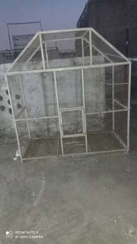 Silver color cage for sale