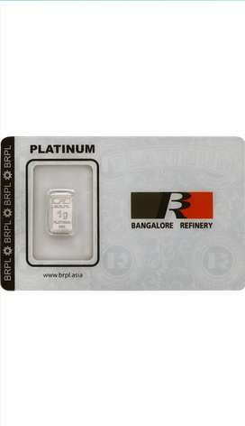 PLATINUM BAR (1GM) FROM BANGALORE REFINERY