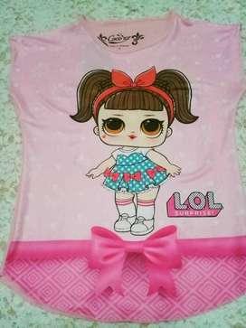 Kaos anak LOL LED