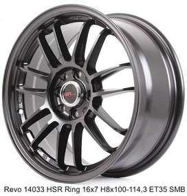velg hsr wheel revo ring 16x7 pcd 4x100-114,3 et 40 mate black