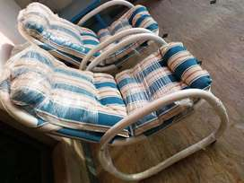 Pair of Imported Outdoor UPVC All Weather and  Washable Luxury Chairs