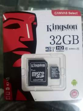 Kingston and sumsung 32gb memory card for sale