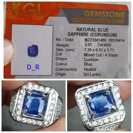 Natural blue safir seilanka