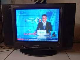 Tv tabung 21in merk sharp alexander