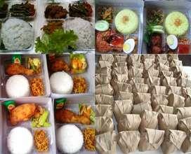 Nasi bungkus untuk pabrik