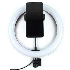 Lampu Halo Ring Light LED Kamera 12W 8 Inch Smartphone Holder - RL-21