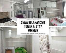 Apartemen Bulanan Bassura 2BR Furnish Lt.17 Tower A, 13CITY1024
