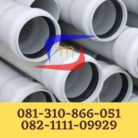 SUPLAYER PIPA PVC STANDART SNI RUBBER RING PANJANG 6 METER