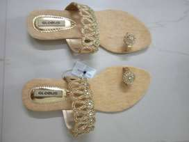 Unused Chappal with beautiful stones for sale