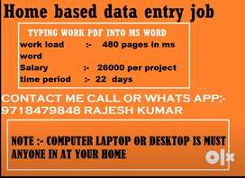 Gear Up!! JOB vacancy - work from home- Earn up-to 26000/- per month!!