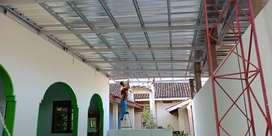 kanopi, garasi, Galvalum Baja ringan, tanpa DP Jogja
