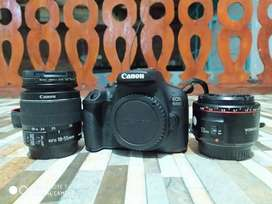 Camera canon 1500d, 1 tahun + lensa youngno 50 mm