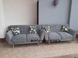 sofa scandinavian 2 seater model terkini
