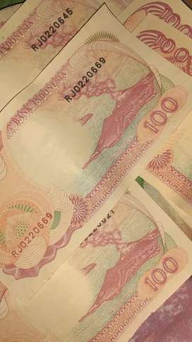 Uang kuno 100 rupiah 1992
