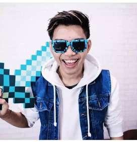 Kacamata Minecraft Frost Diamond untuk Anak