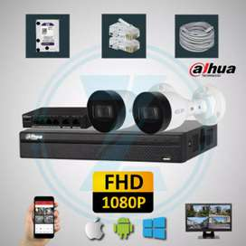 2 CCTV hd night vision complete package