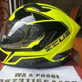 Helm zeus 813 double visor ori