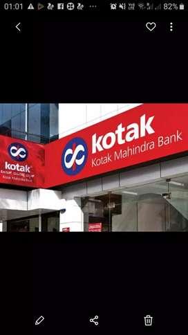 Reqd M/F Cashier,comp operators & accountants for Kotak mahindra banks