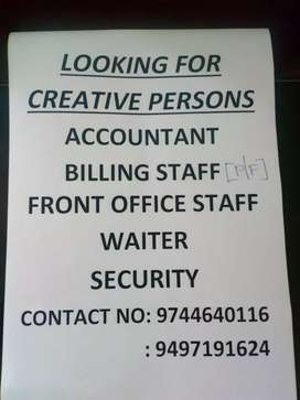 Need staff for this possitions