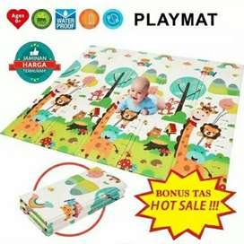 Playmat matras tikar lipat karpet bermain playmatt bayi anak perlak
