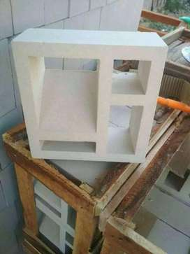 Roster beton putih