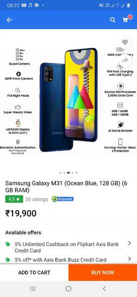I want to sale my brand new samsung galaxy m31 just two month old