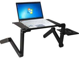 Adjustable Aluminum Laptop Desk Table Ergonomic TV Bed Lapdesk Tray PC