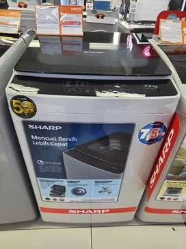 Kredit tanpa DP Mesin Cuci Sharp 7,5kg