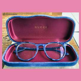 AUTHENTIC GUCCI GLASSES SOPHISTICATED BLUE + LENS