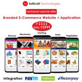 Rs- 3999/- Ecommerce Website + Android App 3999/-