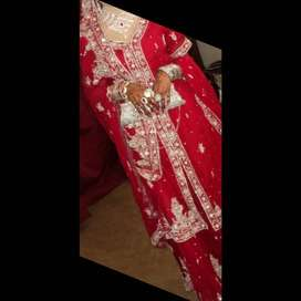 Only 1 time used beautiful lengha wedding dress for sale big offer