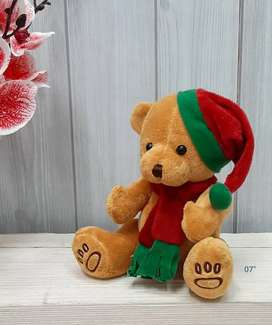 Boneka teddy bear natal 18cm