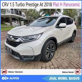 CRV 1.5 Turbo Prestige At 2018 Panoramic Orisinil Bisa Kredit