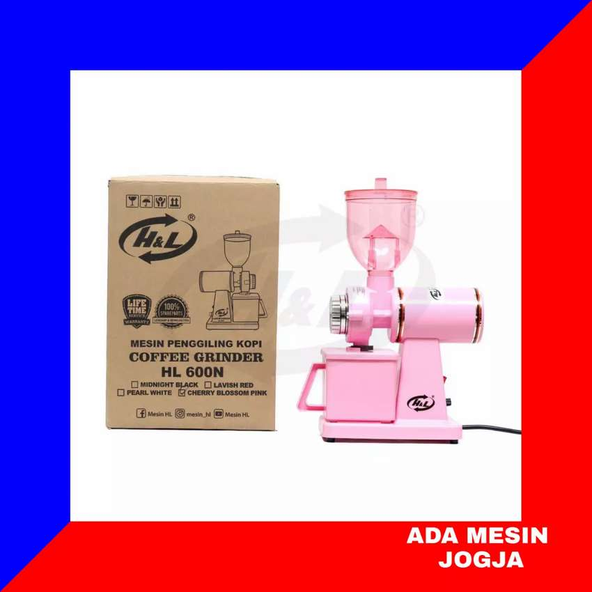 Coffee Grinder Mesin Penggiling Kopi Listrik H&L HL 600 N Pink 0