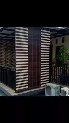 Krey kayu motif outdoor 1125