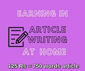 Freelance article /content writers required (home based)