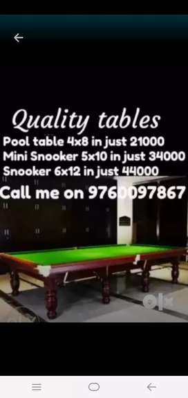 Snooker, mini snooker & pool at best rates
